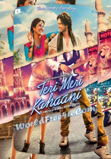Poster Of Bollywood Movie Teri Meri Kahaani (2012) 300MB Compressed Small Size Pc Movie Free Download Worldfree4uk.com