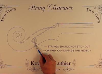 cách thay dây đàn violin