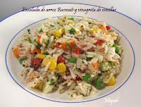 Ensalada de arroz Basmati y vinagreta de semillas