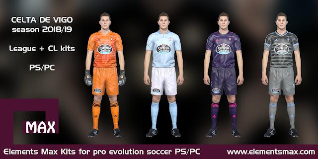 Celta de Vigo PES Kits 2018/19