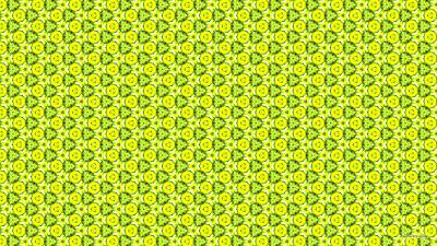 Groen met geel kleurig patroon.