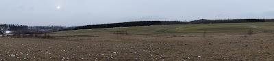 Trójgarb zejście w kierunku Witkowa Śląskiego panorama