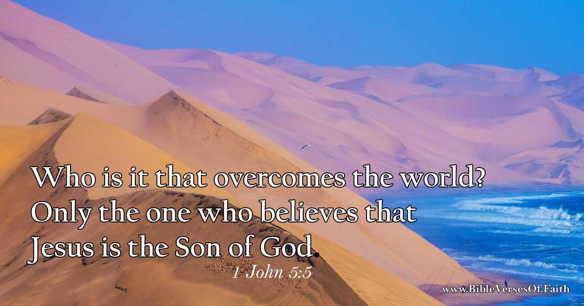 1 John 5:5 (NIV)