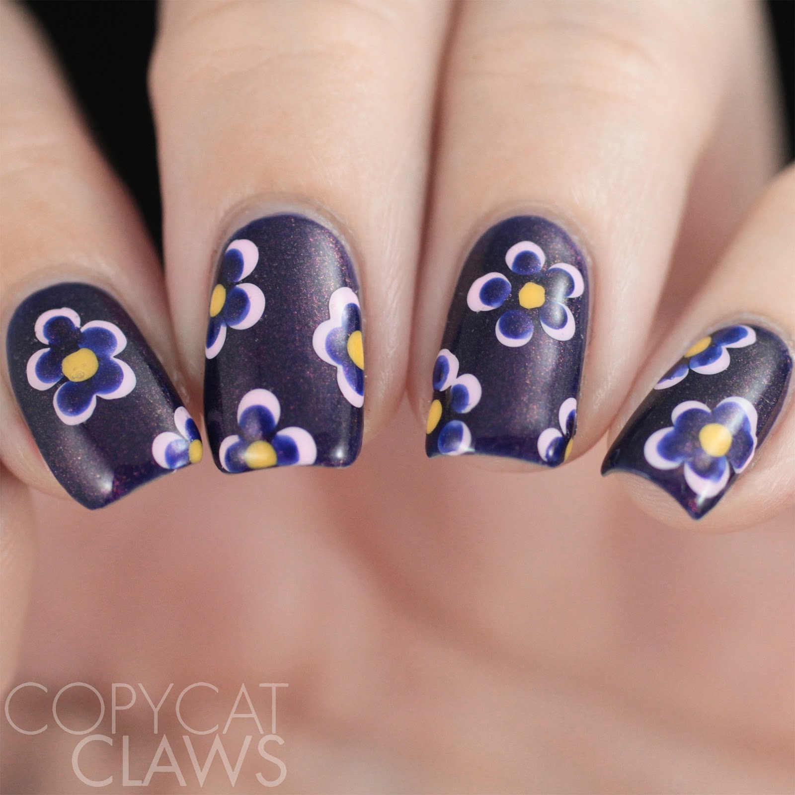 Copycat claws 26 great nail art ideas dotting tools but not well i found this awesome tutorial for using dotting tools for flowers they are still dots but they get transformed into pretty flowers so technically prinsesfo Gallery