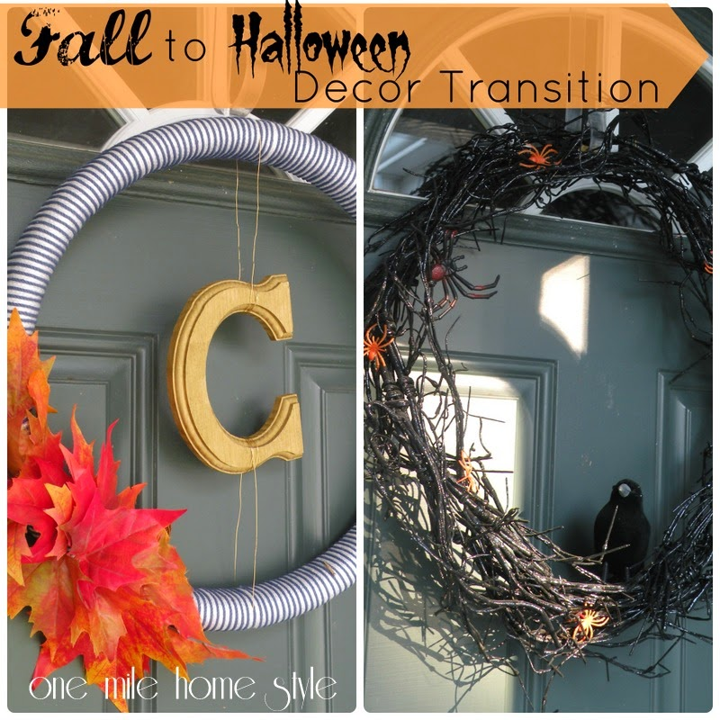 Fall to Halloween Home Decor