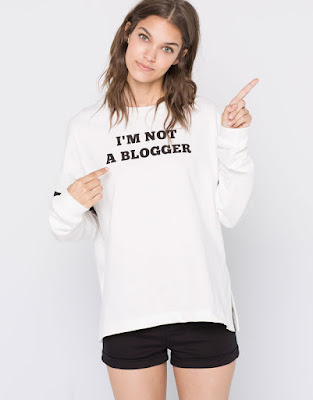 Pull & Bear slogan sweatshirt I'm not a blogger