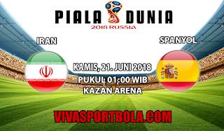 Prediksi Bola Iran vs Spanyol 21 Juni 2018
