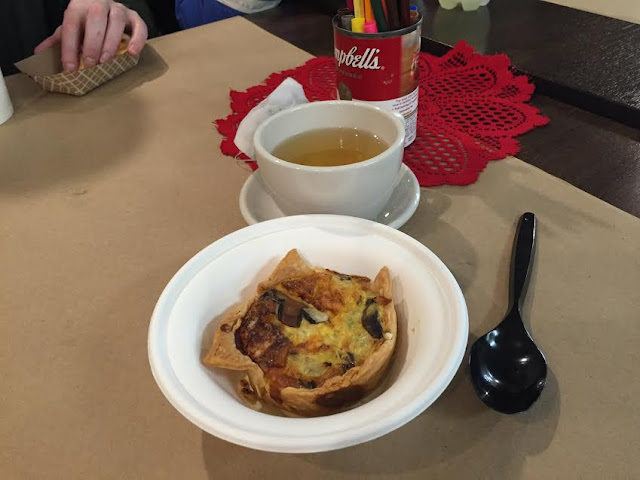 Tea and quiche at Artsmiths of Pittsburgh