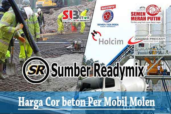 Harga Cor Beton 1 Truck Mobil Molen Jayamix Terbaru 2019