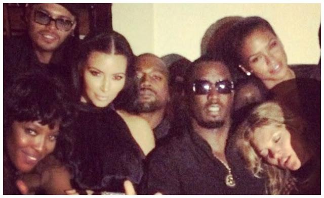 Kim Kardashian and Kanye West selfie