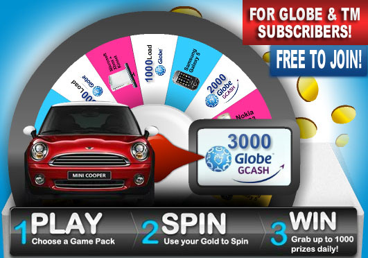 Grab-a-Gold: Win iPAD2 and Globe Load Instantly