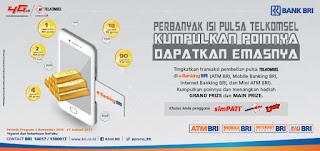 Promo Undian e-Banking Bank BRI berhadiah Emas