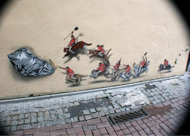 La chasse aux déchets Bruxelles Street Art