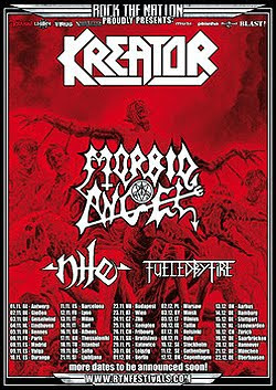 Kreator, Morbid Angel, Nile y Fueled By Fire