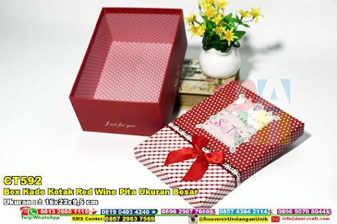 Box Kado Kotak Red Wine Pita Ukuran Besar