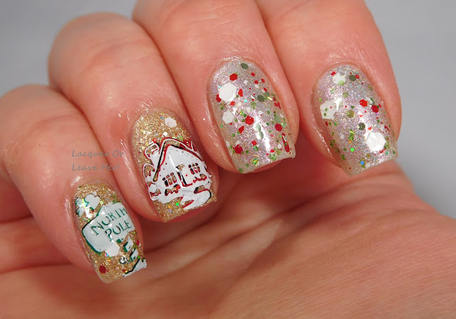 Winstonia The North Pole + Zoya Levi, The Lady Varnishes Fairy Queen, and Messy Mansion stamping polishes