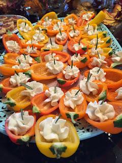 Mini Sweet Peppers with Chevre-Honey Cream