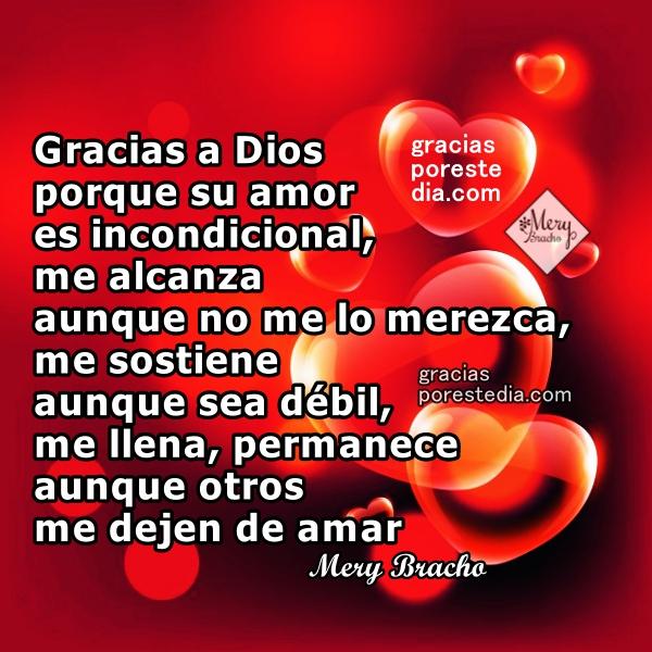 Frases de acción de gracias a Dios por su amor, imágenes con mensajes de agradecimiento, frases cortas para este día dando gracias al Señor por Mery Bracho