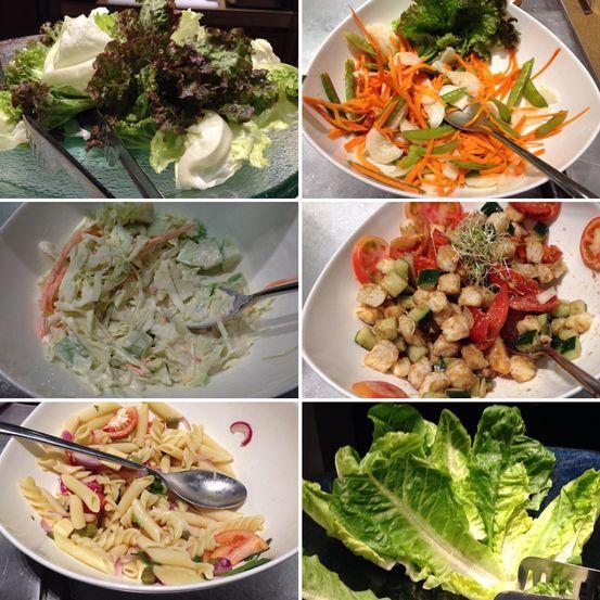 Salad station at Flavors Restaurant in Holiday Inn Makati