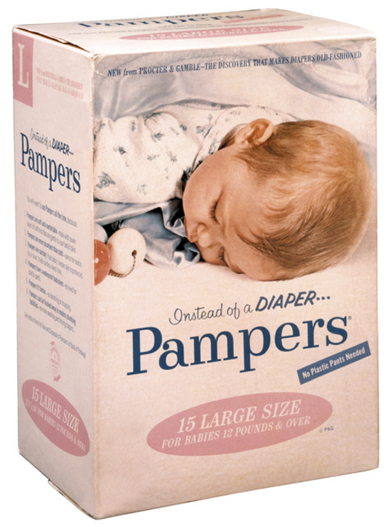 Pampers package 1961