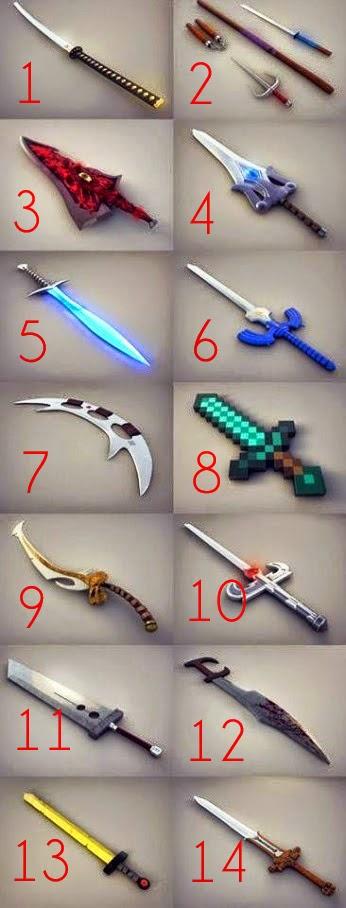 Reconoces algunas de estas espadas