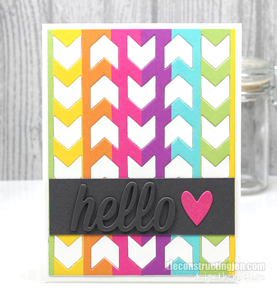 Happy Hellos and Chunky Chevron Cover-Up Die-namics - Jen Shults #mftstamps