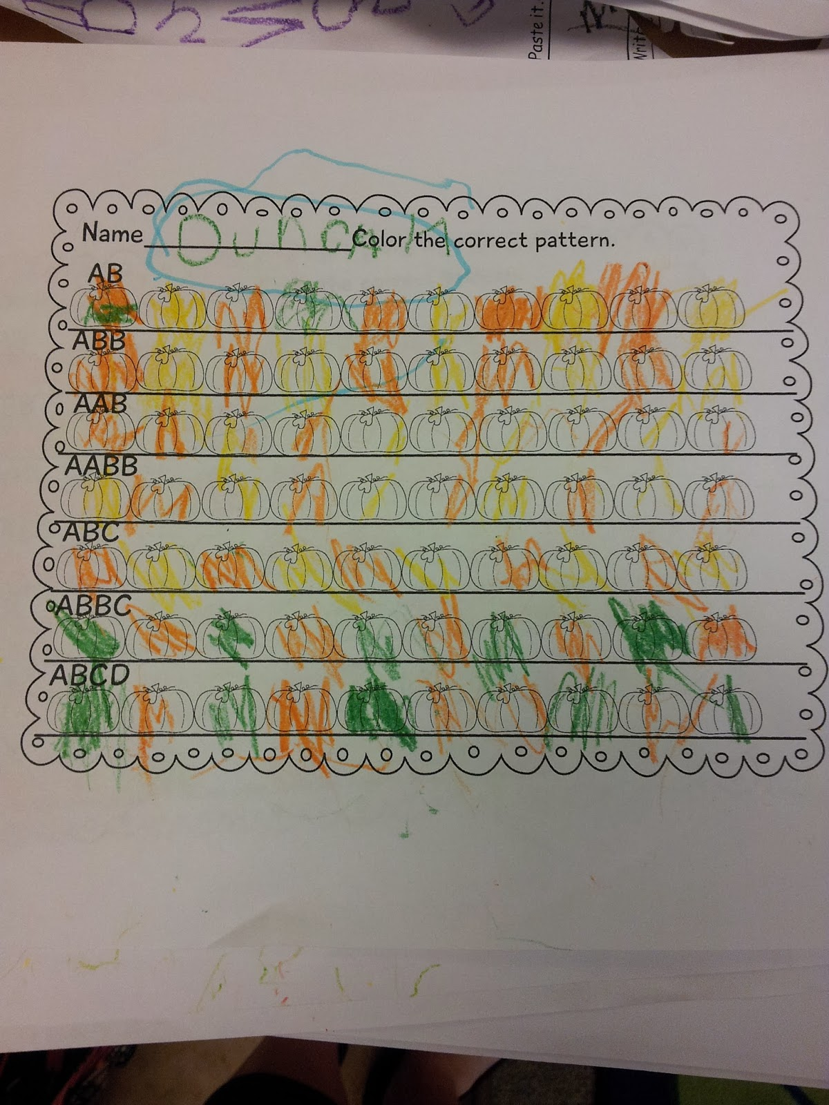The Crazy Pre K Classroom Patterns Graphing And Number
