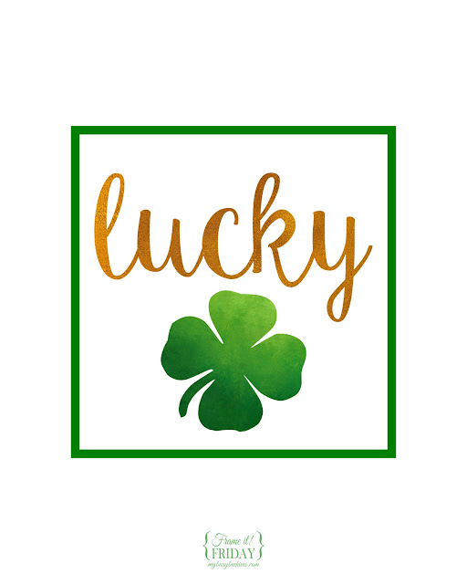 Lucky... a free printable for St. Patrick's Day