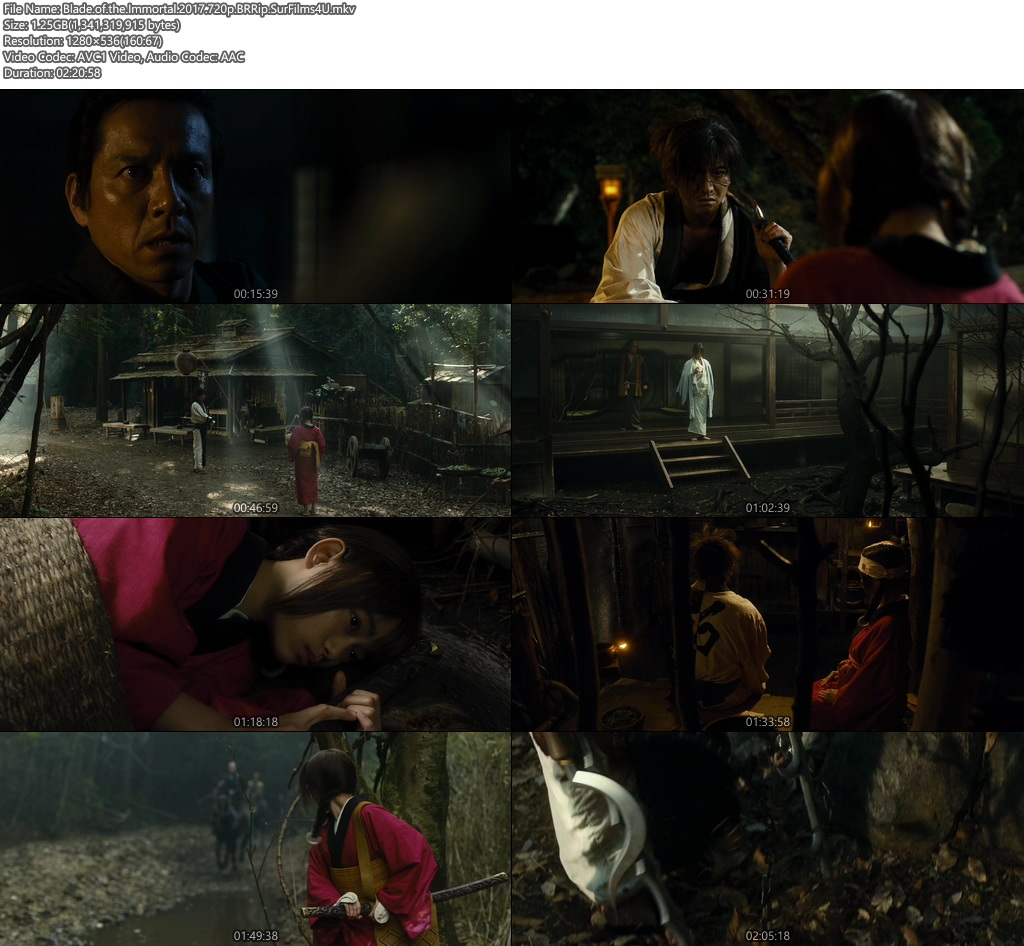 Blade of the Immortal 2017 720p BRRip 1.2GB Screenshot
