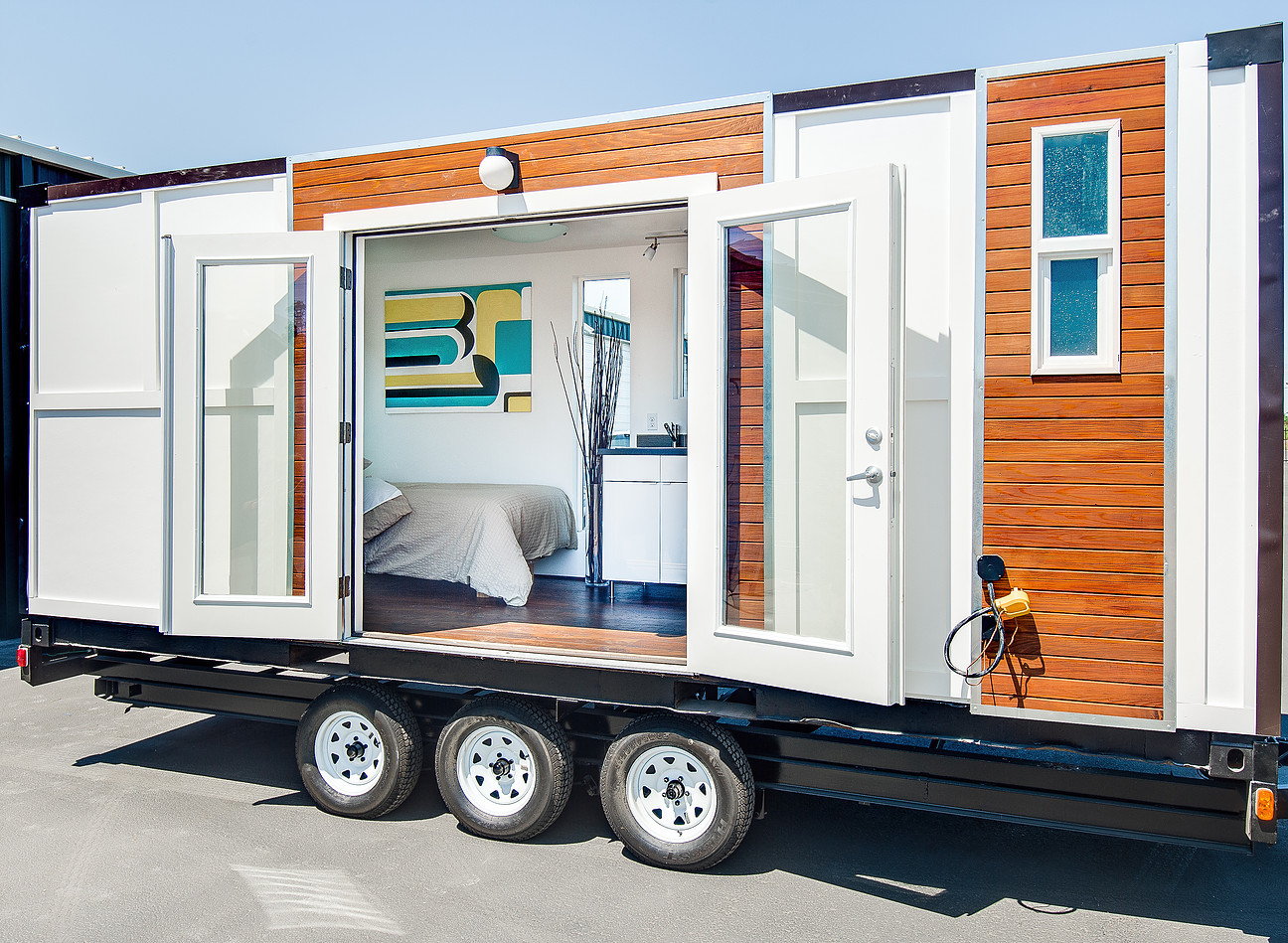 tiny house town munda shipping container home. Black Bedroom Furniture Sets. Home Design Ideas