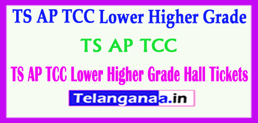 TS AP TCC Lower Higher Grade Hall Tickets 2018