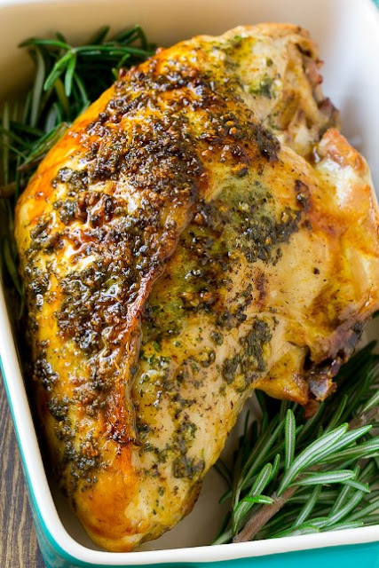 ROASTED TURKEY BREAST WITH GARLIC AND HERBS