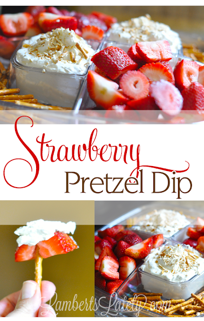 Strawberry Pretzel Dip takes the popular salad recipe and turns it into a fun party snack!