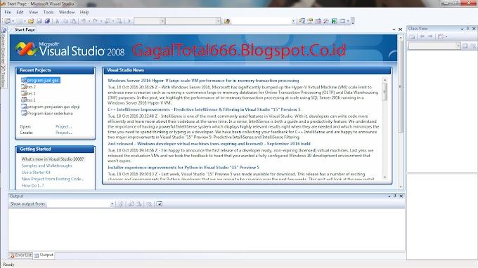 Cara Membuat Program Simple Penjualan Gas Elpiji di Visual C++