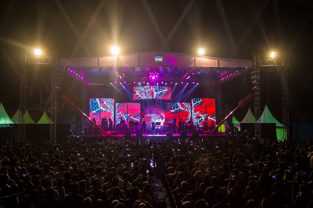 Delhiites enjoy music at Rider's Music Festival