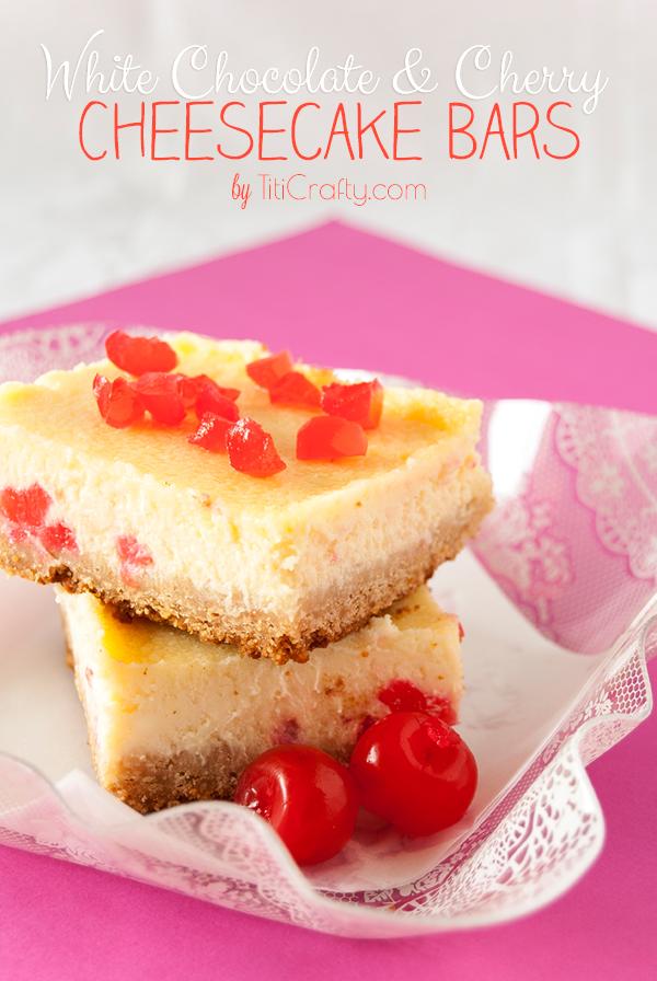 White Chocolate Cherry Cheesecake Bars Recipe 10 Pretty Pastries 33