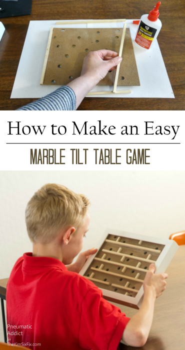 DIY shadow box tilt table handmade game tutorial