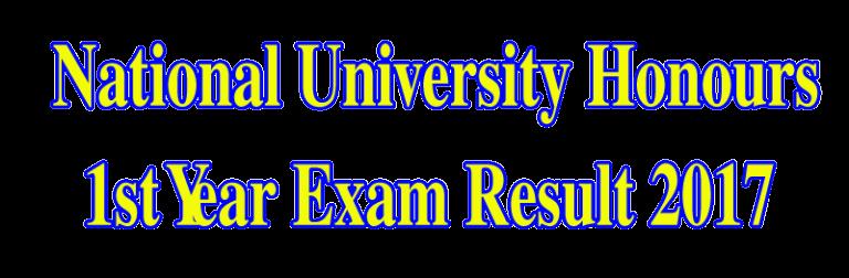 National University Honours 1st Year Exam Result 2017