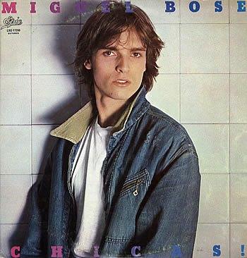 Foto de Miguel Bosé joven en portada de disco