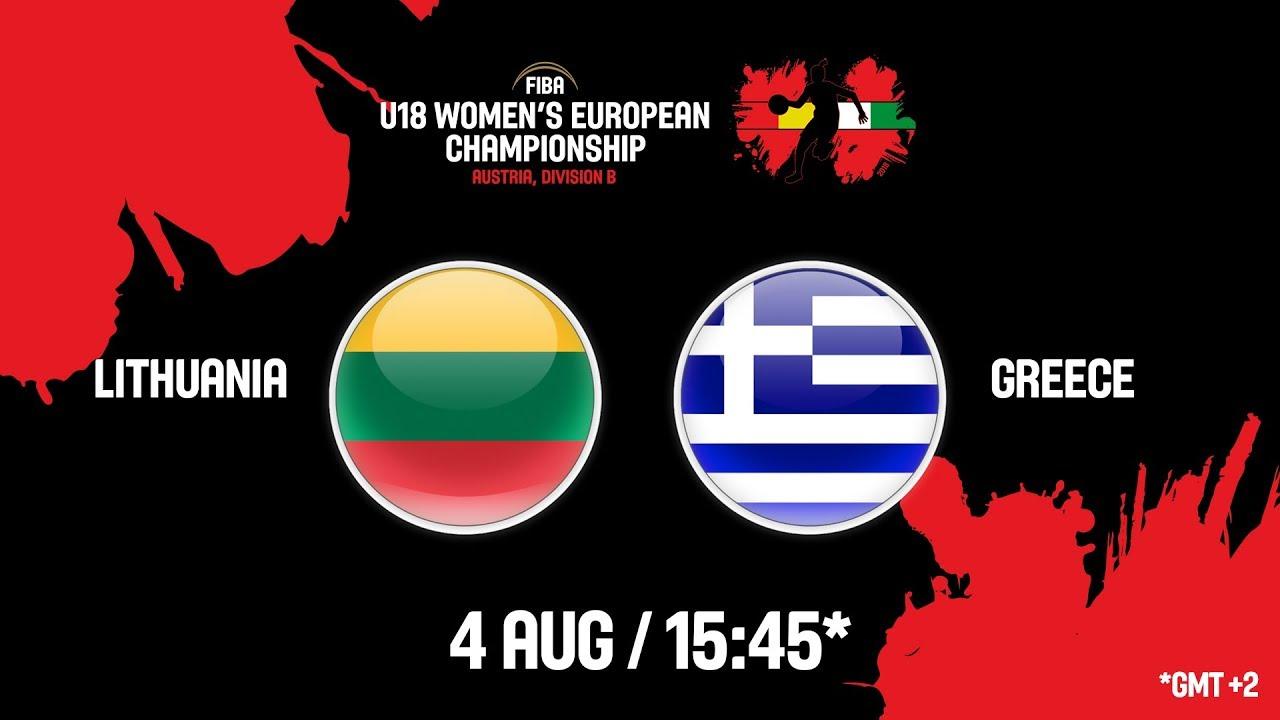 Λιθουανία - Ελλάδα ζωντανή μετάδοση στις 16:45 από την Αυστρία, για το Ευρωπαϊκό Νεανίδων (Β κατηγορία)