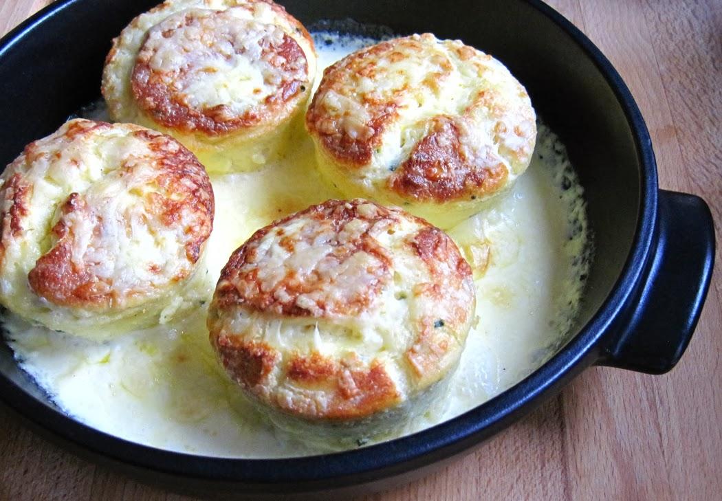 Twice Baked Cheddar Soufflés