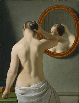C.W. Eckersberg, A nude woman doing her hair before a mirror (1841) Hirschprung Museum (Copenhagen) Copyright: Hirschprung Museum