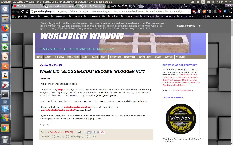 WORLDVIEW WINDOW: NETHERLANDS KEEPS BUGGING ME