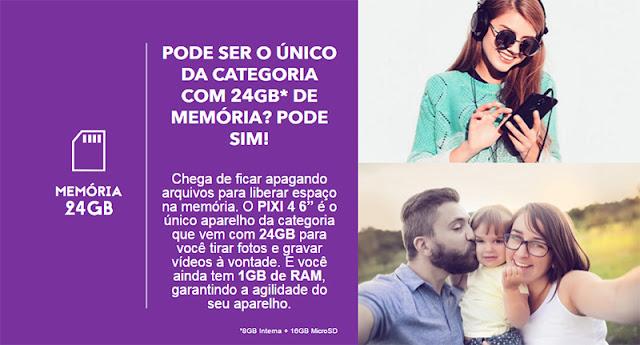 Smartphone Alcatel Câmera 13MP Selfie 8MP Flash Frontal