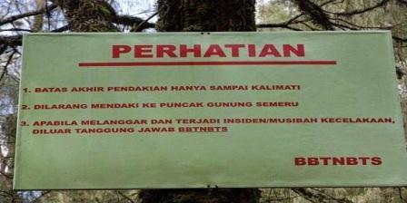 Melanggar Aturan Yang Sudah Ditetapkan Sebagai Batas Wilayah Pendakian