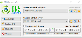 DNS Jumper v2.1 Terbaru 2017
