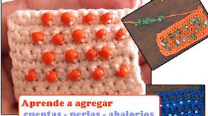 Aprende a agregar cuentas, perlas o abalorios mientras tejes crochet / Tutoriales