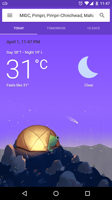 Google Weather Frogy