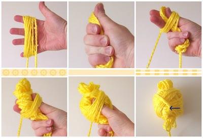 Como hacer una bola redonda de una madeja de lana