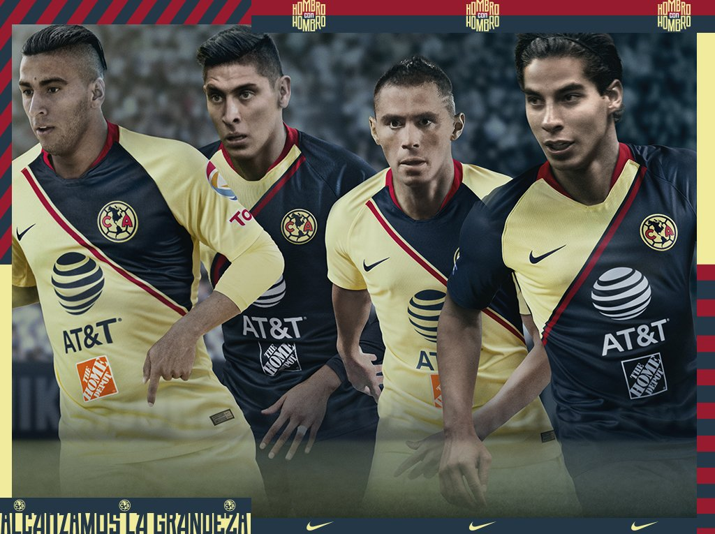 e47c68b8bb8 The new Nike Club America 18-19 home and away kits have been released  yesterday evening ahead of the friendly against Manchester United.